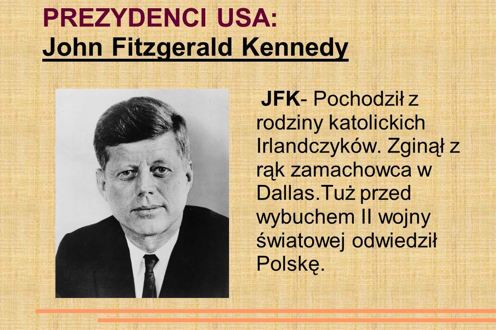 PREZYDENCI USA: John Fitzgerald Kennedy