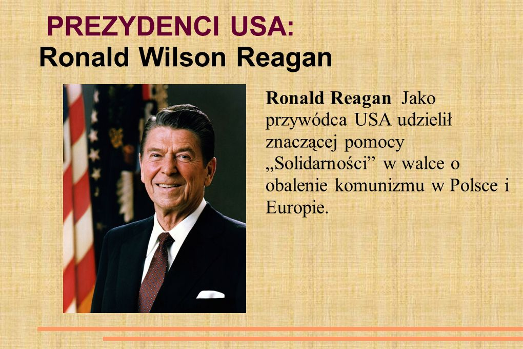 PREZYDENCI USA: Ronald Wilson Reagan
