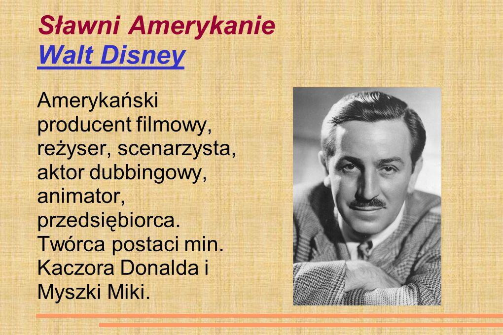 Sławni Amerykanie Walt Disney