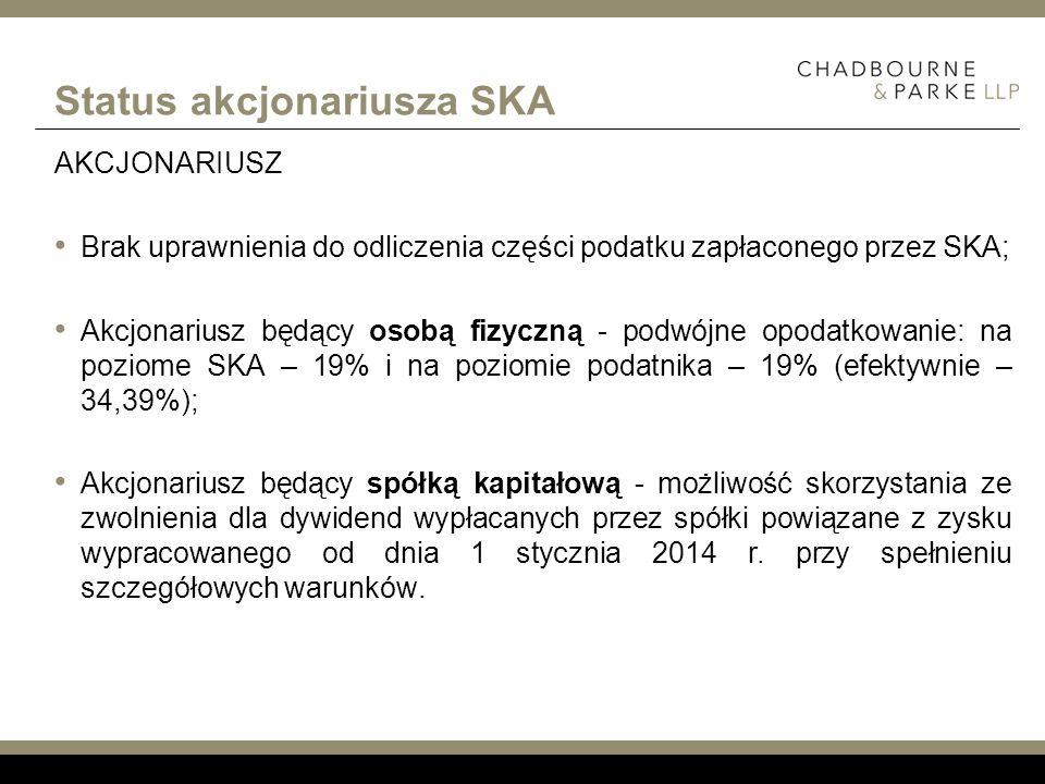 Status akcjonariusza SKA