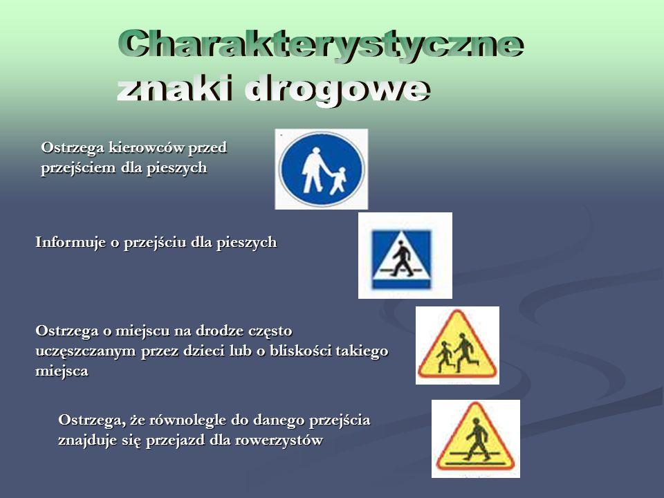 Charakterystyczne znaki drogowe