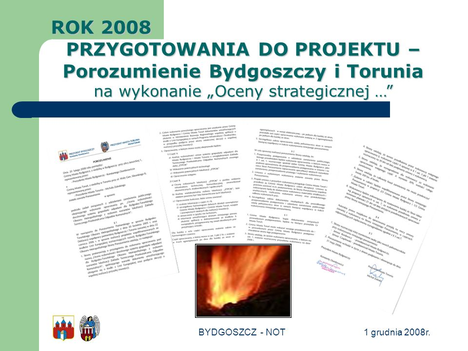 PRZYGOTOWANIA DO PROJEKTU – Porozumienie Bydgoszczy i Torunia