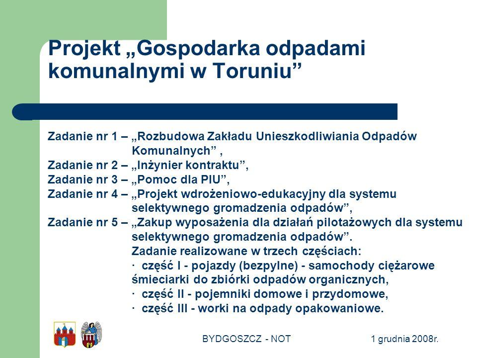 """Projekt """"Gospodarka odpadami komunalnymi w Toruniu"""
