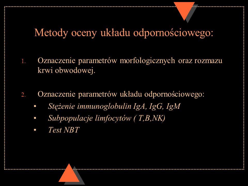 Metody oceny układu odpornościowego: