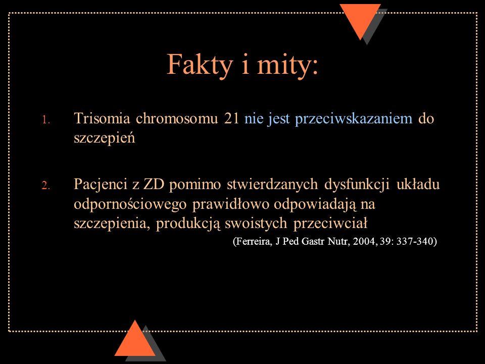 Fakty i mity:Trisomia chromosomu 21 nie jest przeciwskazaniem do szczepień.