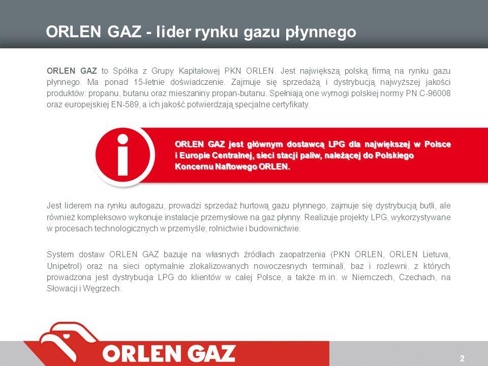 ORLEN GAZ - lider rynku gazu płynnego