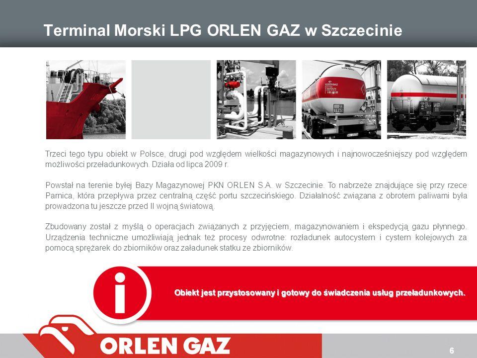 Terminal Morski LPG ORLEN GAZ w Szczecinie
