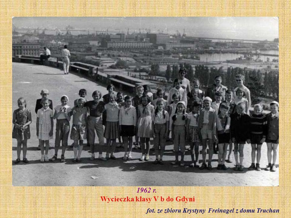 1962 r. Wycieczka klasy V b do Gdyni
