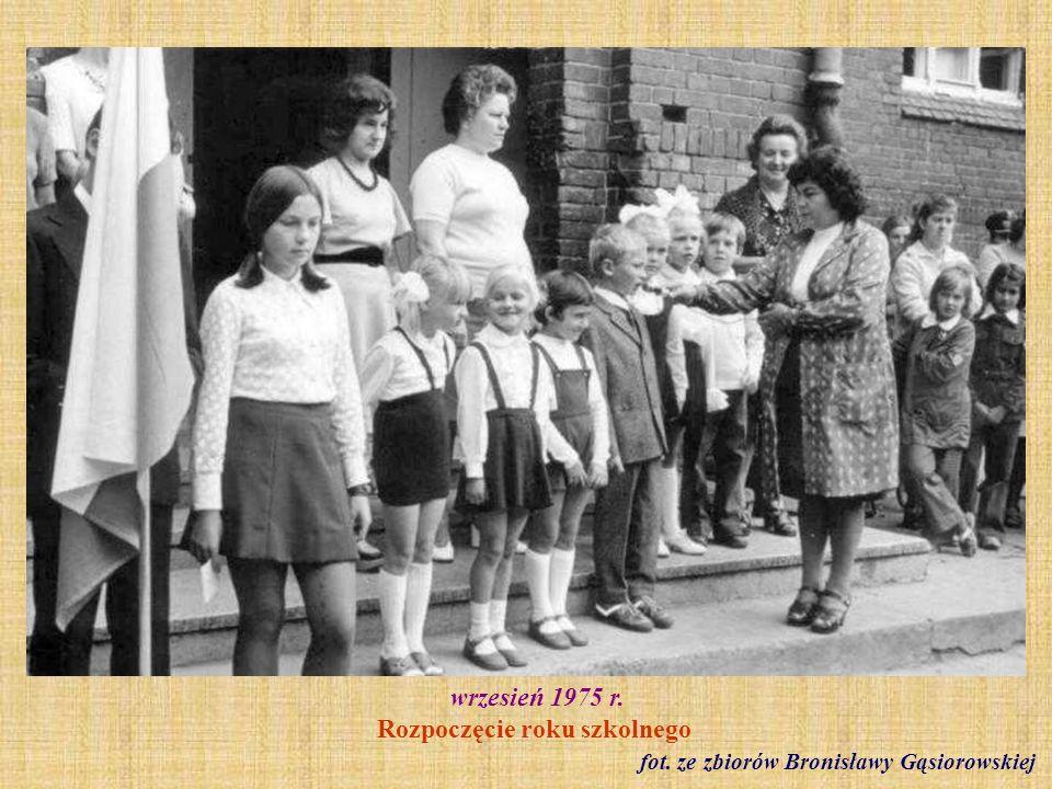 wrzesień 1975 r. Rozpoczęcie roku szkolnego