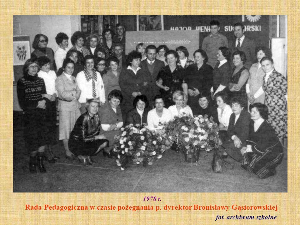 1978 r. Rada Pedagogiczna w czasie pożegnania p