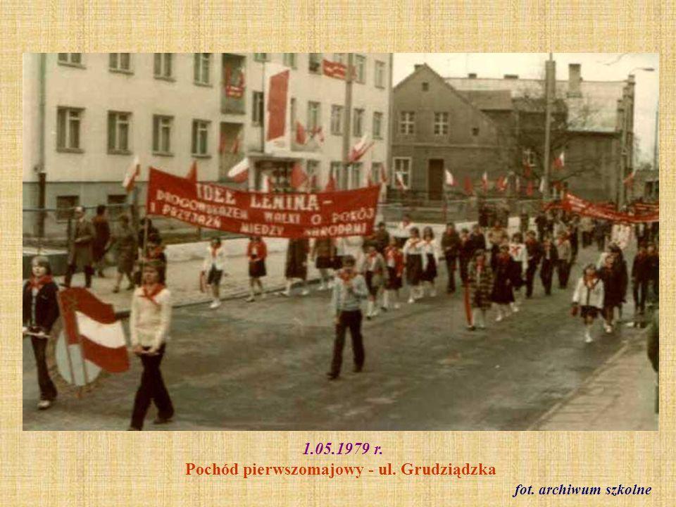 1.05.1979 r. Pochód pierwszomajowy - ul. Grudziądzka