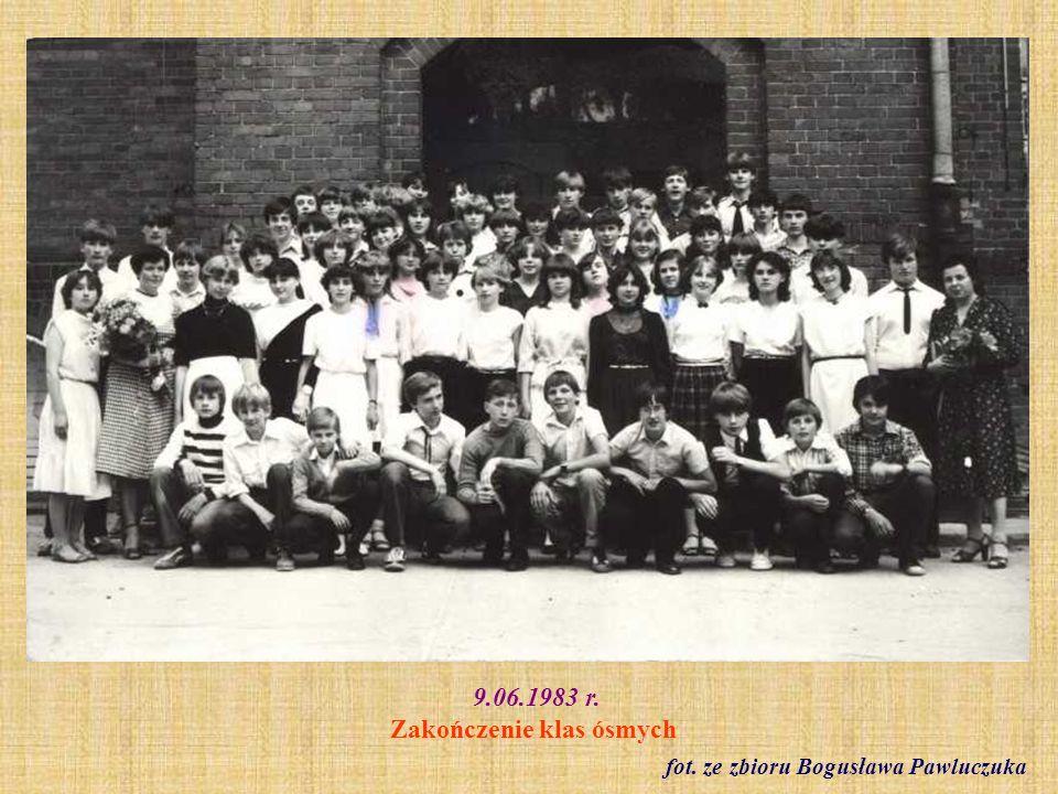 9.06.1983 r. Zakończenie klas ósmych