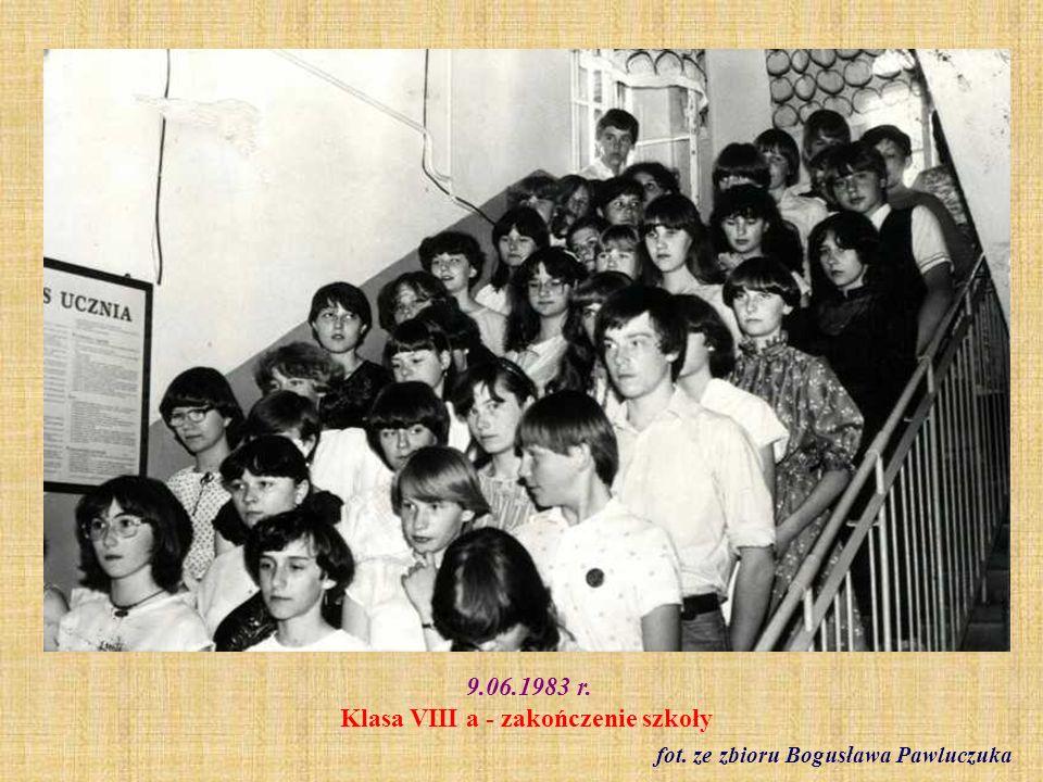 9.06.1983 r. Klasa VIII a - zakończenie szkoły