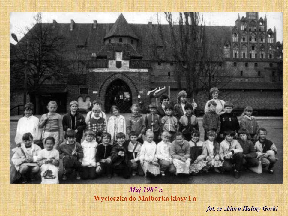 Maj 1987 r. Wycieczka do Malborka klasy I a