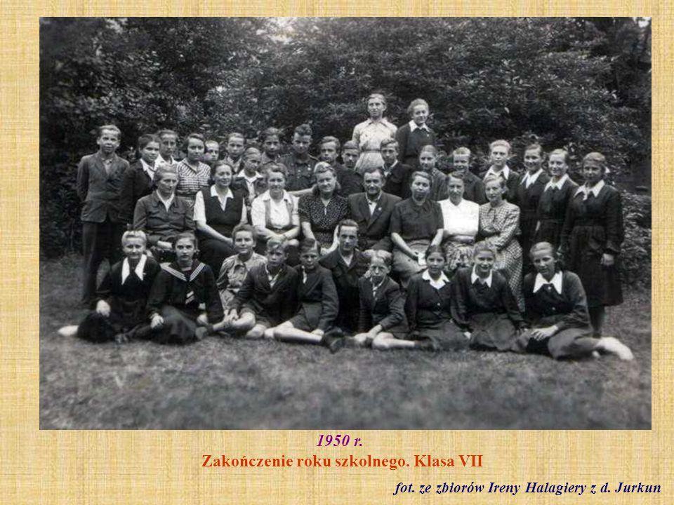 1950 r. Zakończenie roku szkolnego. Klasa VII