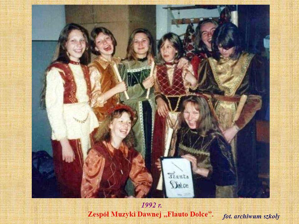 """1992 r. Zespół Muzyki Dawnej """"Flauto Dolce ."""
