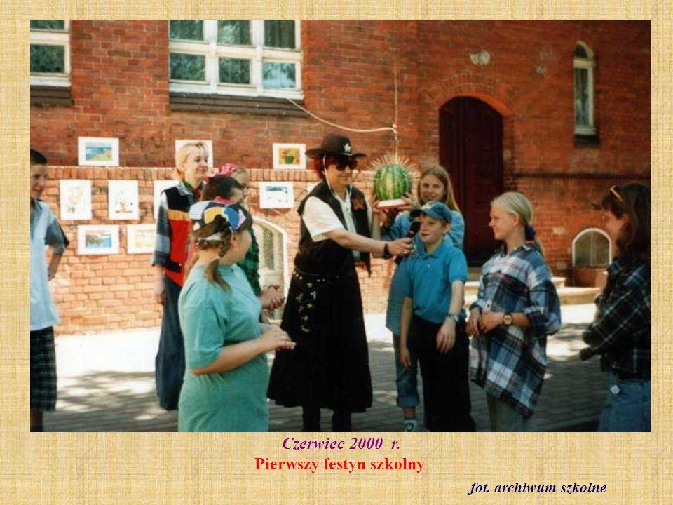 Czerwiec 2000 r. Pierwszy festyn szkolny