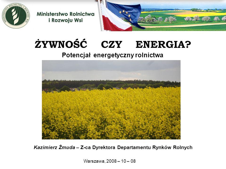 Kazimierz Żmuda – Z-ca Dyrektora Departamentu Rynków Rolnych