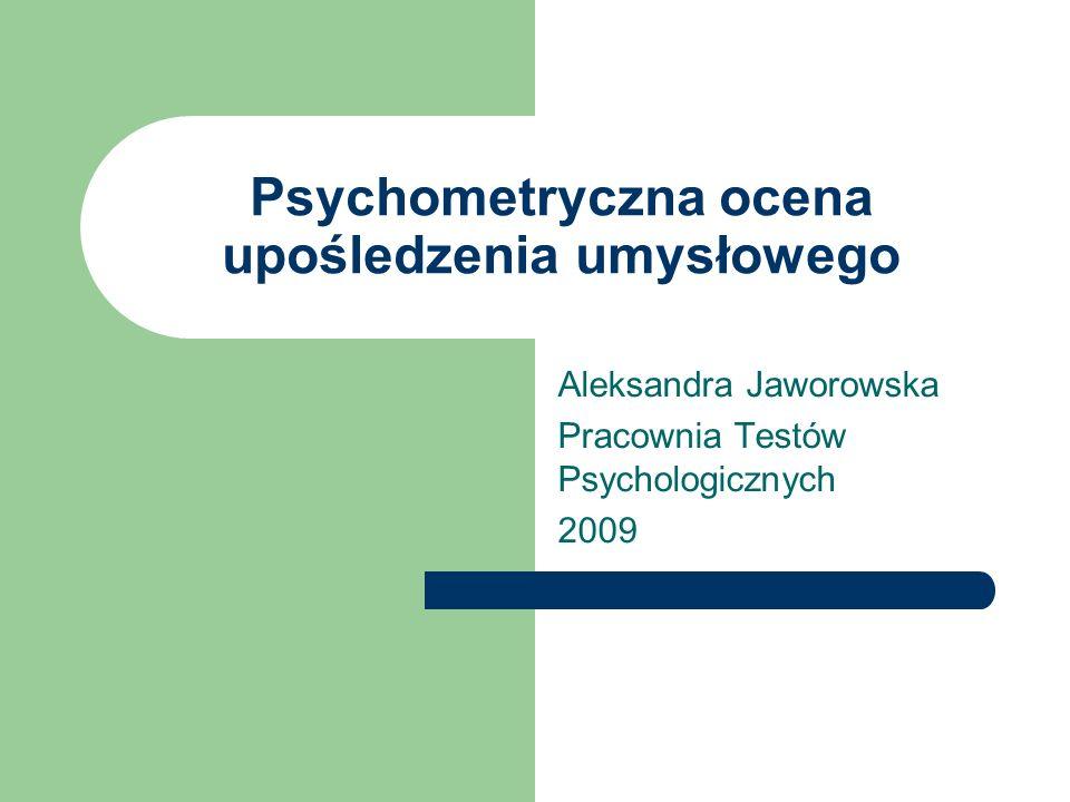 Psychometryczna ocena upośledzenia umysłowego