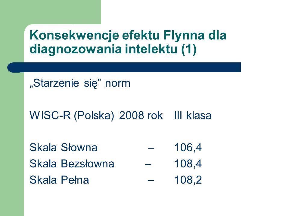 Konsekwencje efektu Flynna dla diagnozowania intelektu (1)