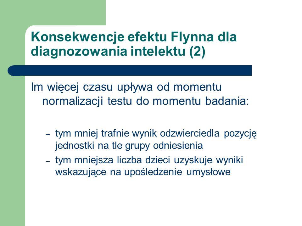 Konsekwencje efektu Flynna dla diagnozowania intelektu (2)