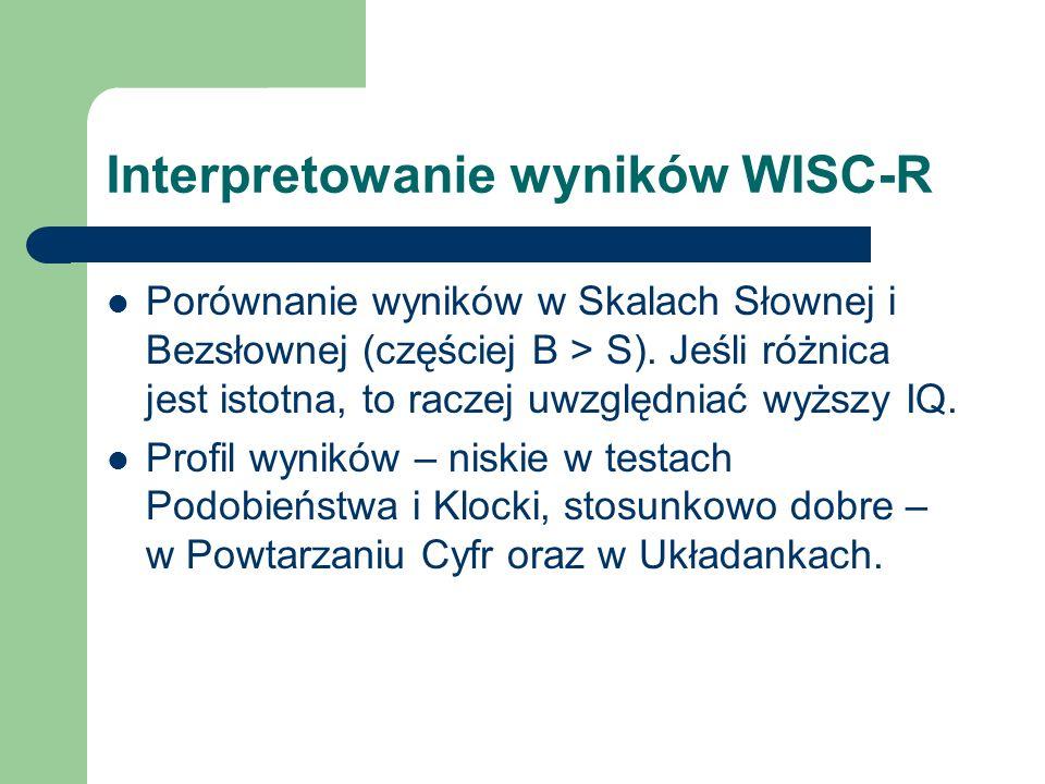 Interpretowanie wyników WISC-R