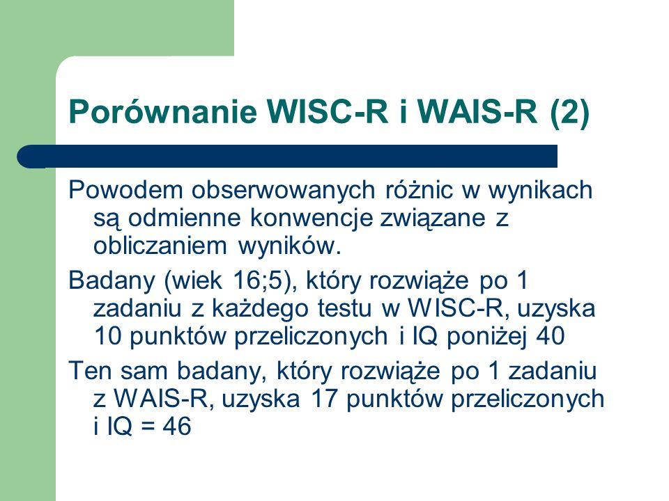 Porównanie WISC-R i WAIS-R (2)