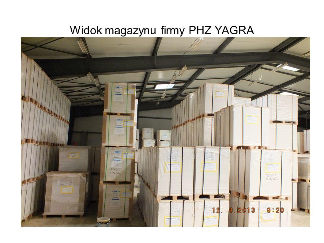 Widok magazynu firmy PHZ YAGRA