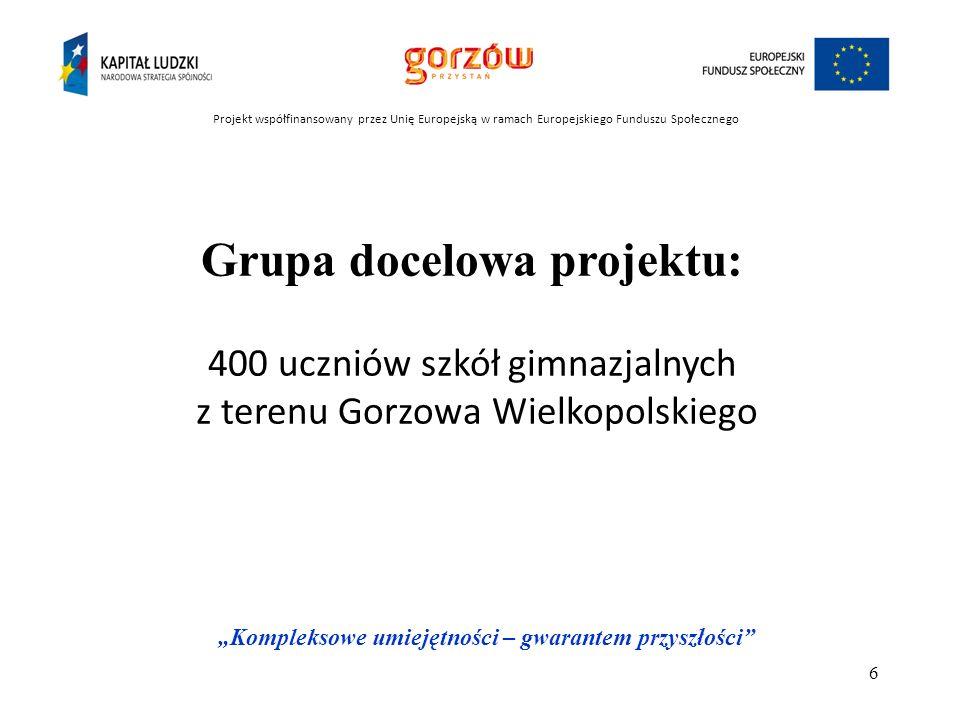 Grupa docelowa projektu: