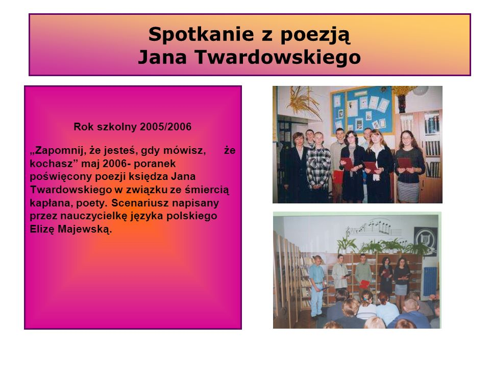 Spotkanie z poezją Jana Twardowskiego