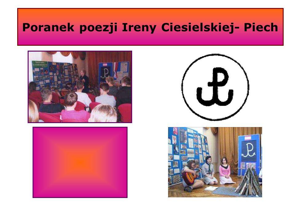 Poranek poezji Ireny Ciesielskiej- Piech