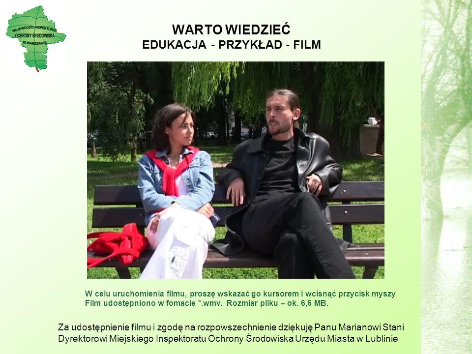 WARTO WIEDZIEĆ EDUKACJA - PRZYKŁAD - FILM