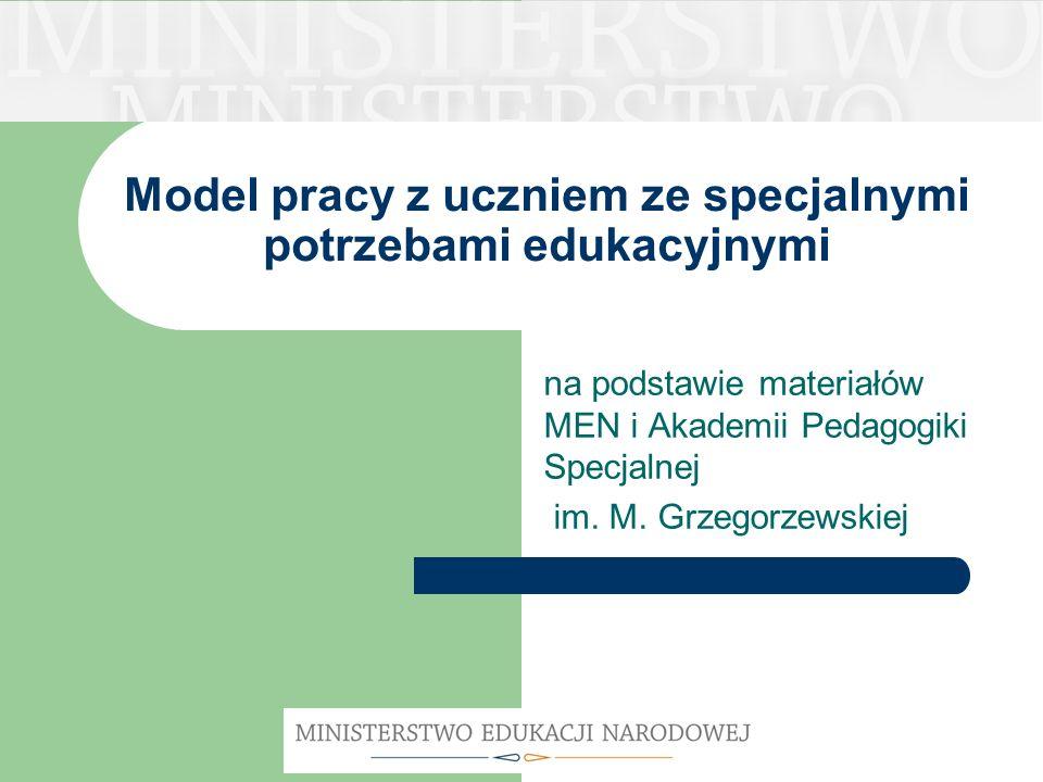 Model pracy z uczniem ze specjalnymi potrzebami edukacyjnymi