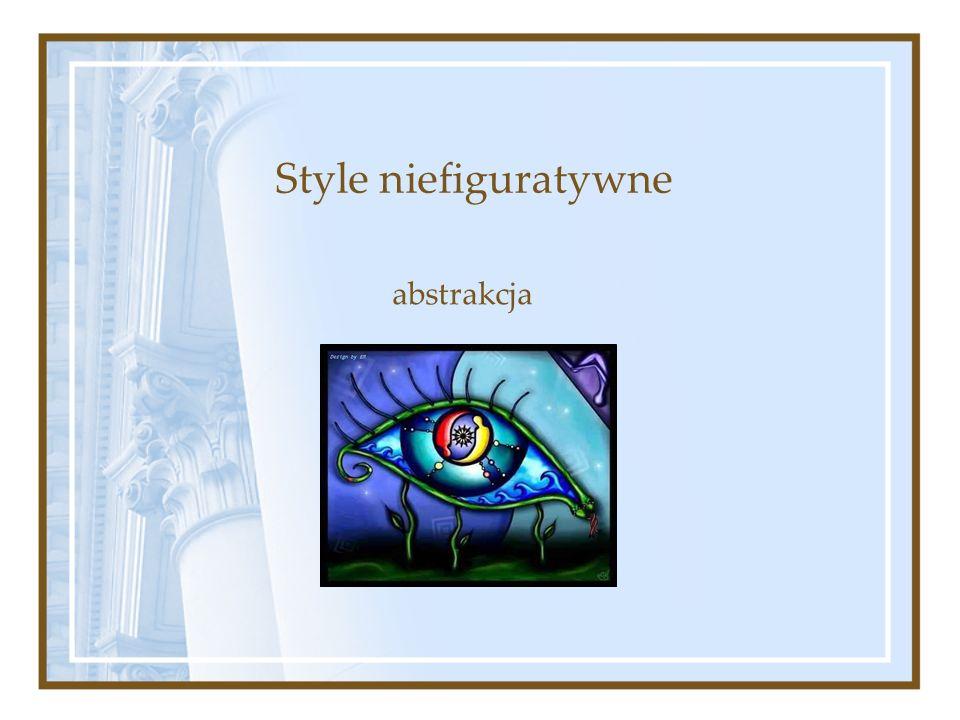 Style niefiguratywne abstrakcja