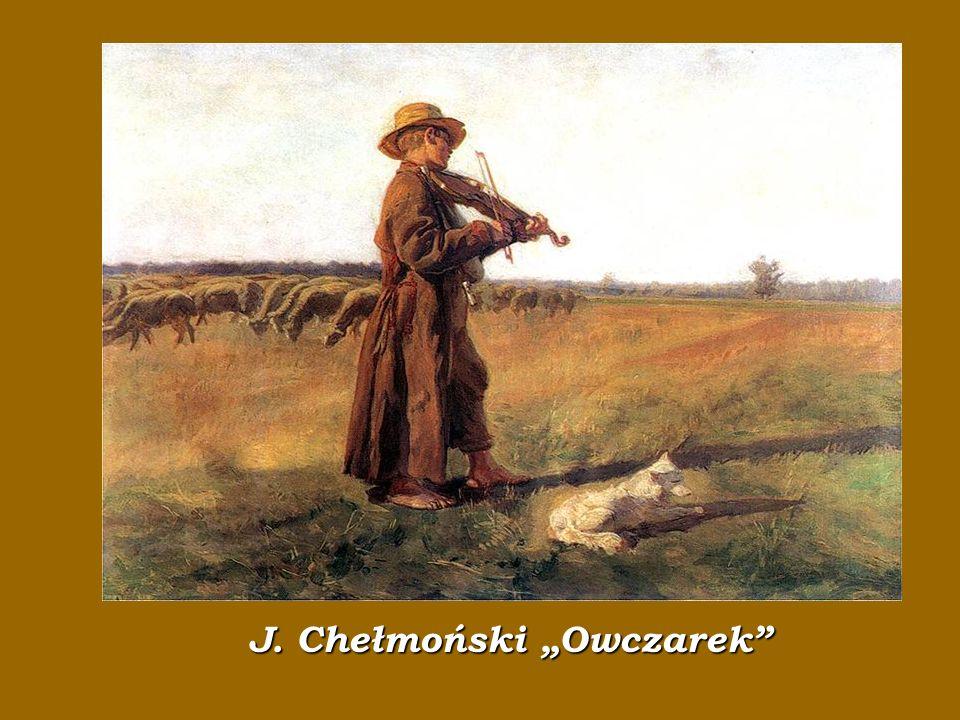 """J. Chełmoński """"Owczarek"""