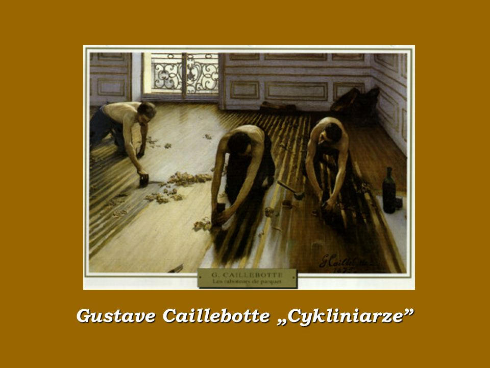 """Gustave Caillebotte """"Cykliniarze"""