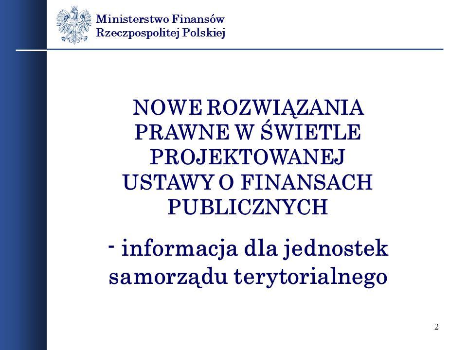- informacja dla jednostek samorządu terytorialnego