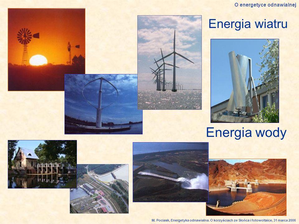 Energia wody Energia wiatru O energetyce odnawialnej