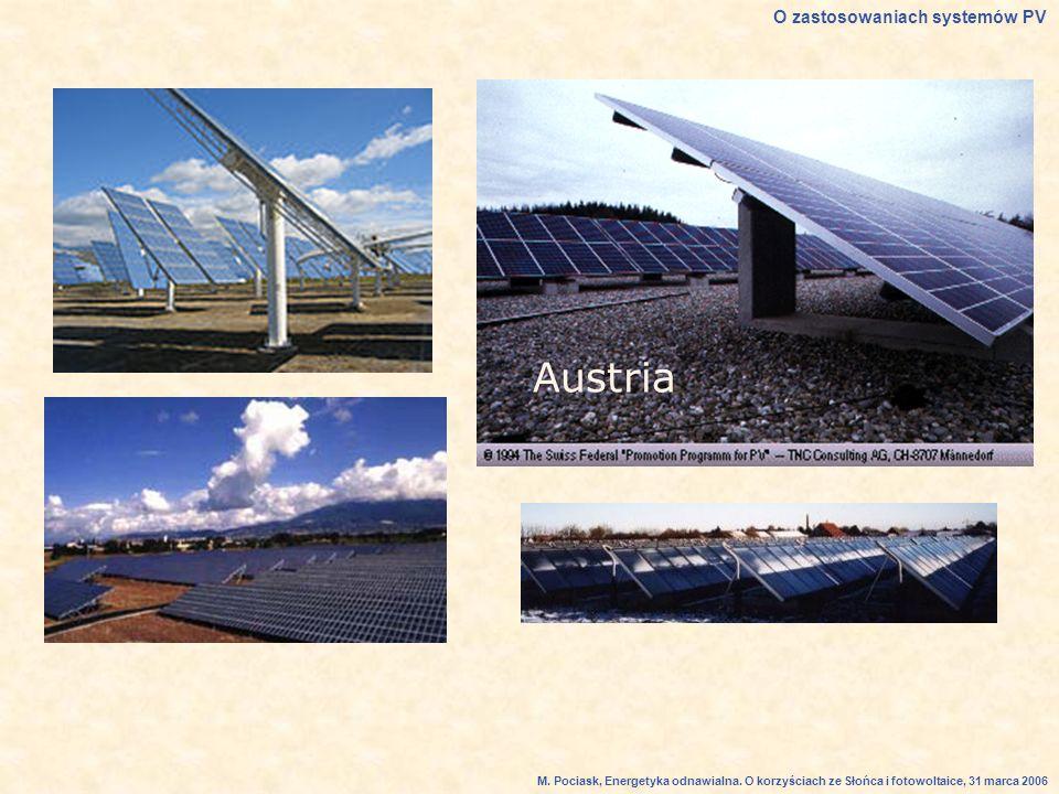 Austria O zastosowaniach systemów PV