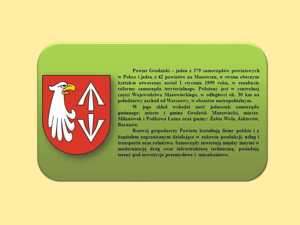 Powiat Grodziski – jeden z 379 samorządów powiatowych w Polsce i jeden z 42 powiatów na Mazowszu, w swoim obecnym kształcie utworzony został 1 stycznia 1999 roku, w rezultacie reformy samorządu terytorialnego. Położony jest w centralnej części Województwa Mazowieckiego, w odległości ok. 30 km na południowy zachód od Warszawy, w obszarze metropolitalnym.