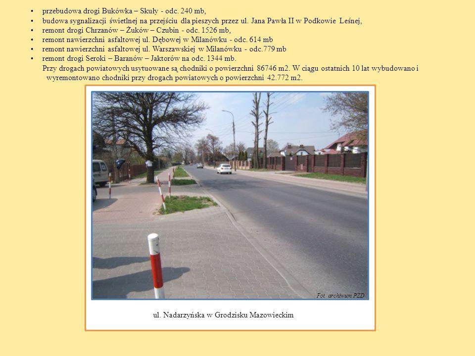 przebudowa drogi Bukówka – Skuły - odc. 240 mb,