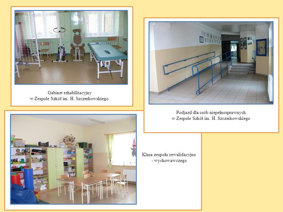 Gabinet rehabilitacyjny w Zespole Szkół im. H. Szczerkowskiego.