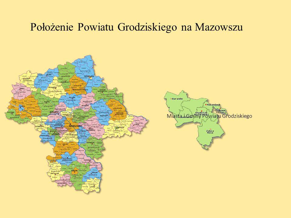 Położenie Powiatu Grodziskiego na Mazowszu
