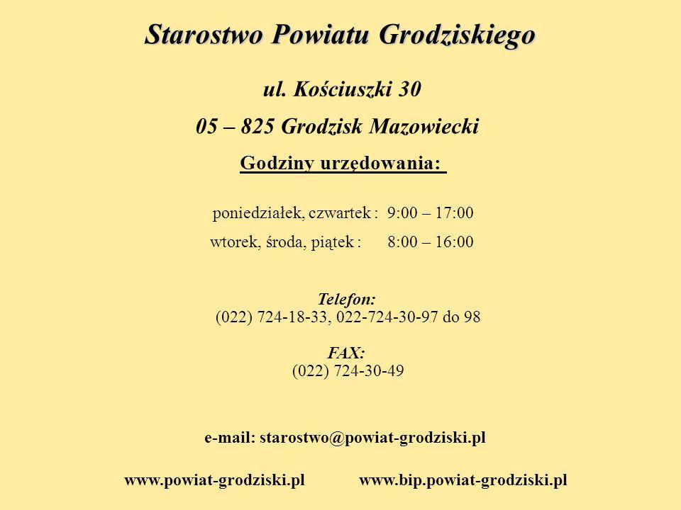 e-mail: starostwo@powiat-grodziski.pl