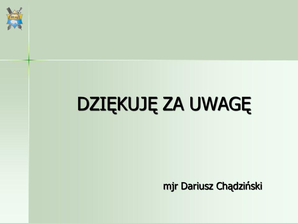 mjr Dariusz Chądziński