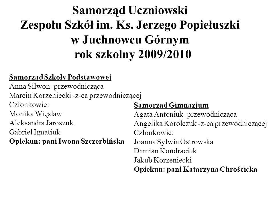 Samorząd Uczniowski Zespołu Szkół im. Ks