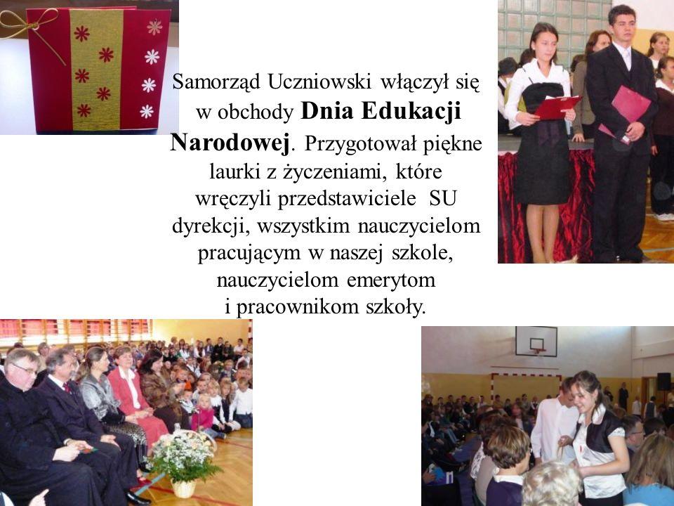 Samorząd Uczniowski włączył się w obchody Dnia Edukacji Narodowej
