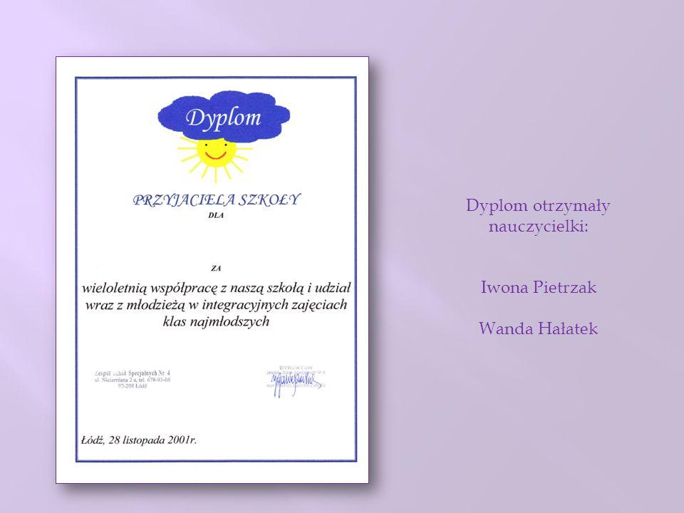 Dyplom otrzymały nauczycielki: