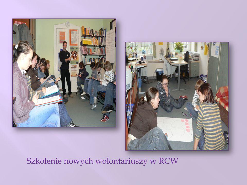 Szkolenie nowych wolontariuszy w RCW