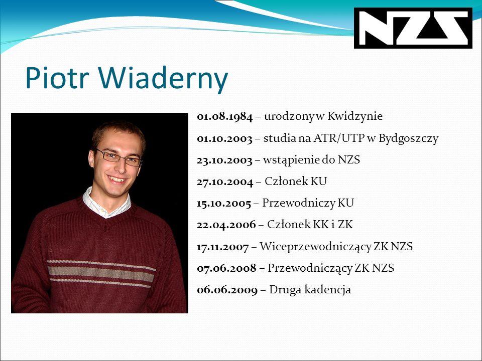 Piotr Wiaderny 01.08.1984 – urodzony w Kwidzynie